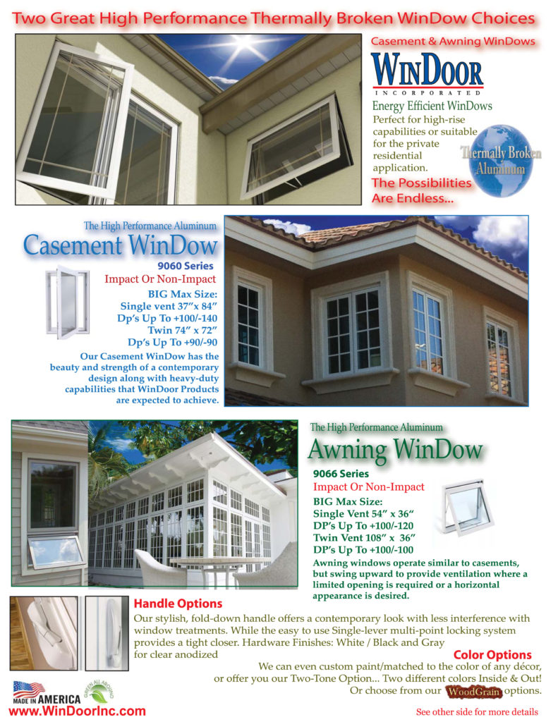 9060 & 9066 Casement Awning front 2013