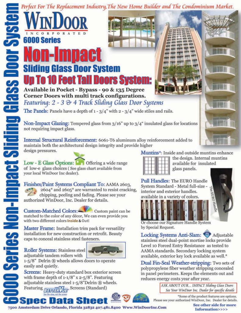 Spec Data Sheet 6000 Front NEW 2011